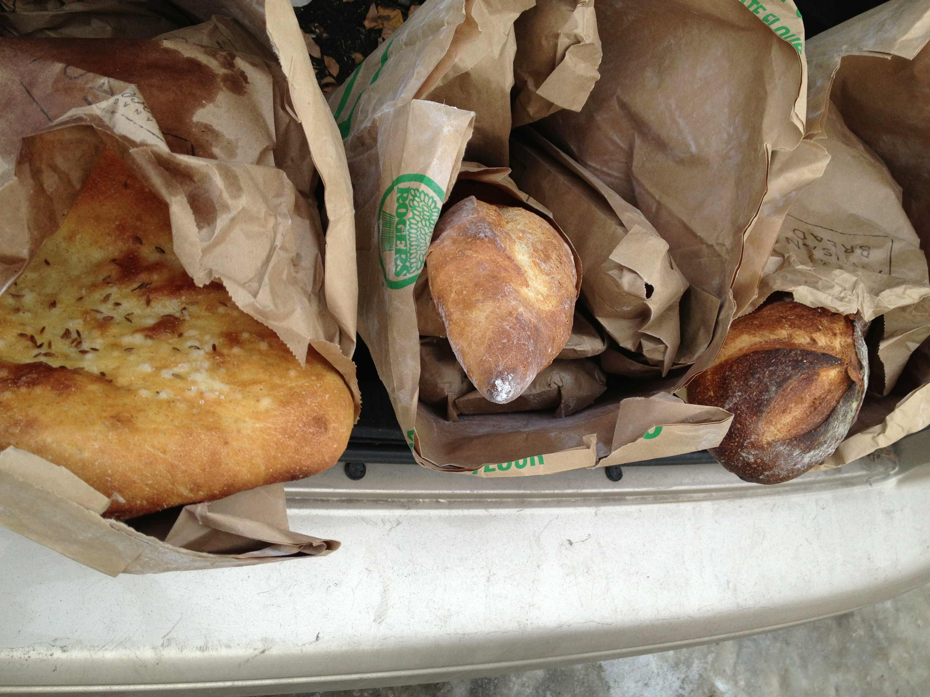 Artisan breads from Okanagan Grocery.  Treat yourself to a loaf of their chocolate bread!!