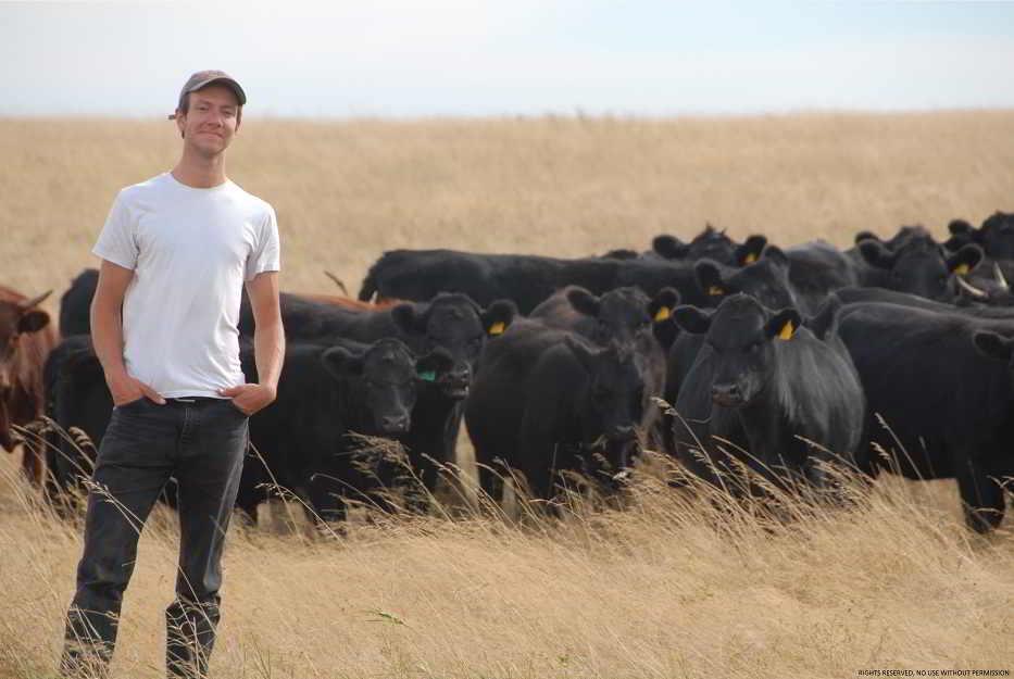 Blake Hall, Herdsman at Prairie Gold Pastured Meats.