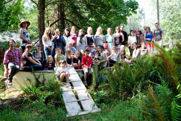 All the young agrarians in the boat at BC Food Systems 2012 at Camp Fircom on Gabriola Island.