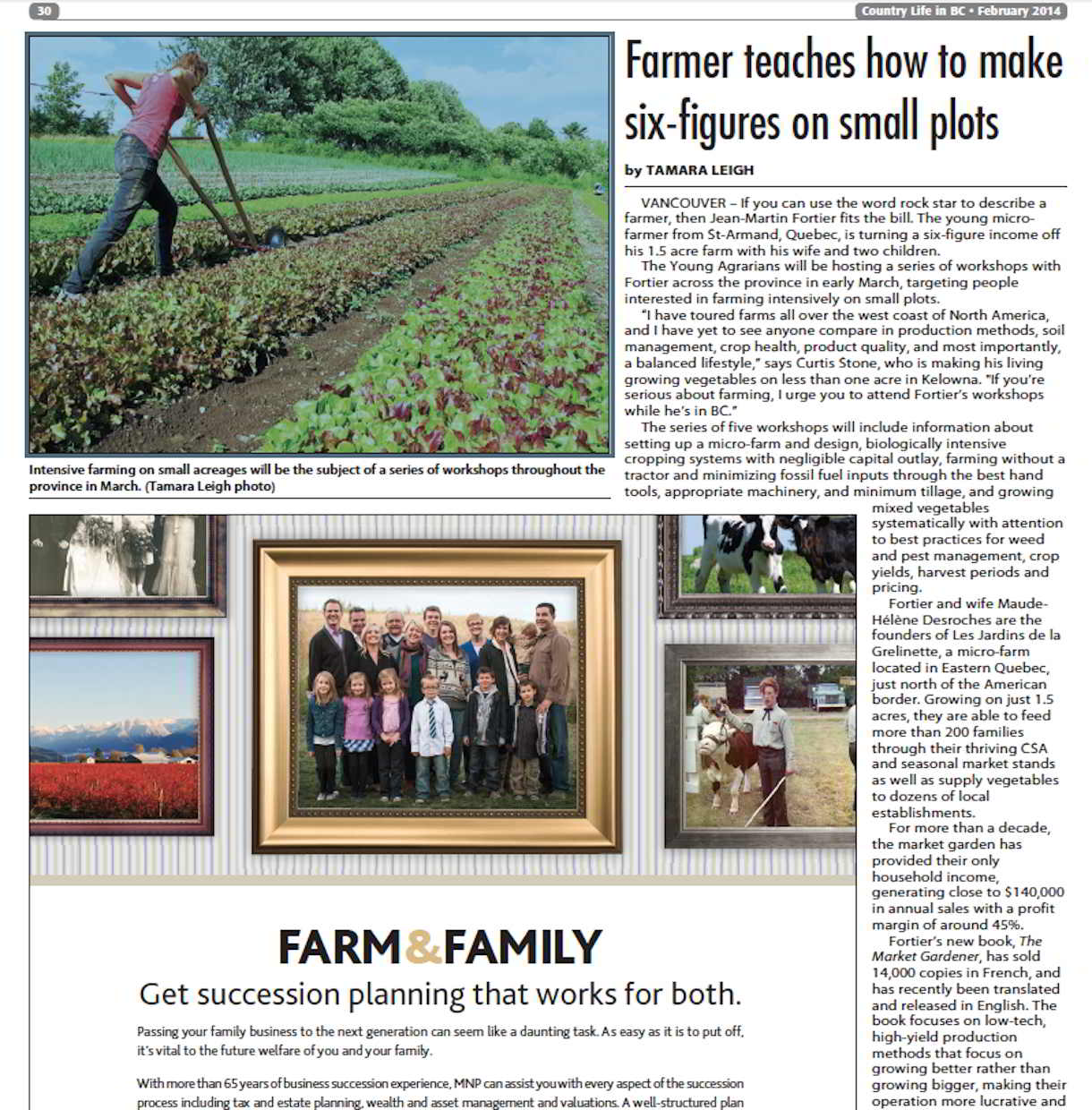 Country Life in BC JMFortier Article-1