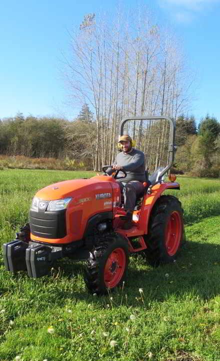 Jacob on tractor