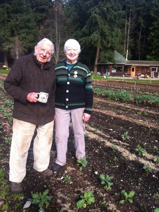 Owners Nanoose Edibles Organic Farm