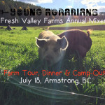 JULY 18: Fresh Valley Farms Annual Young Agrarians Mixer!