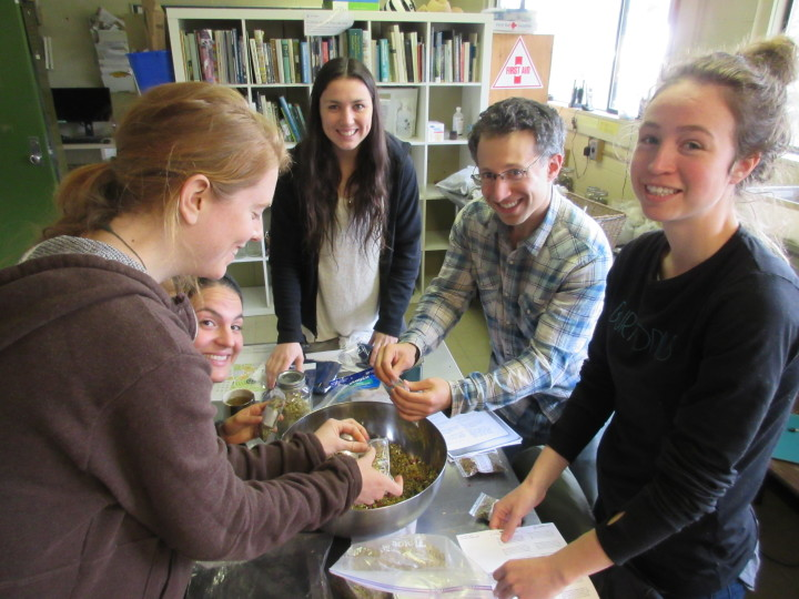 Tea Making with the UBC Farm Practicum in Sustainable Agriculture students