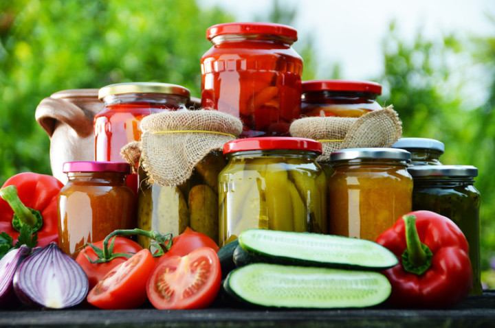 Visual display of jars - examples of agrifood value added processing businesses