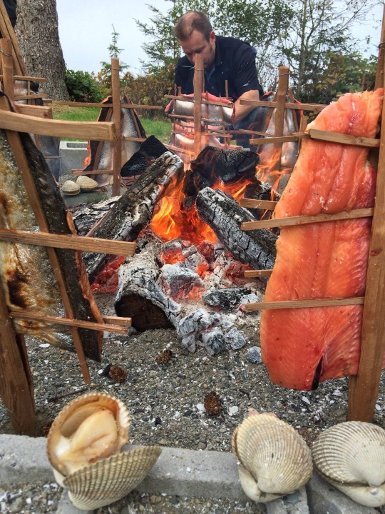 Soon to be smoked salmon at  Traditional Indigenous Food Sovereignty Conference