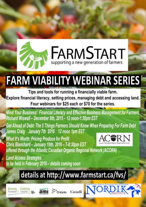 FarmStart Farm Viability Webinar Series Detail Poster