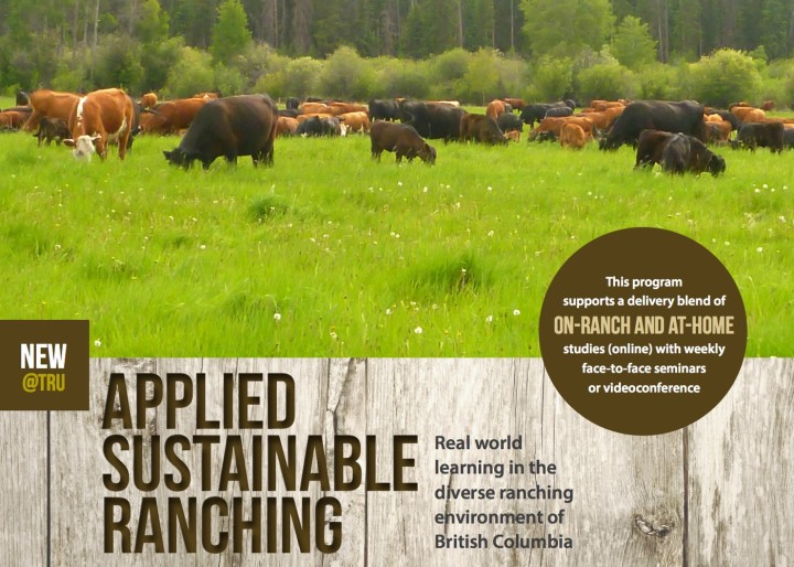 Applied Sustainable Ranching Certificate Promo Poster