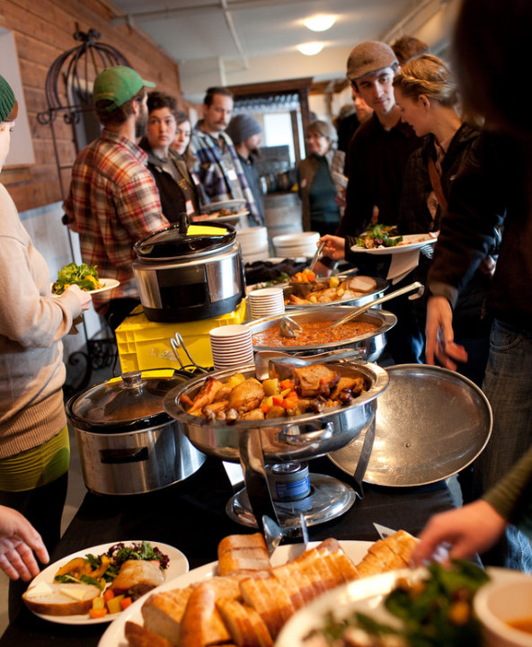New Farmers Line Up for a Organic Local Lunch Spread