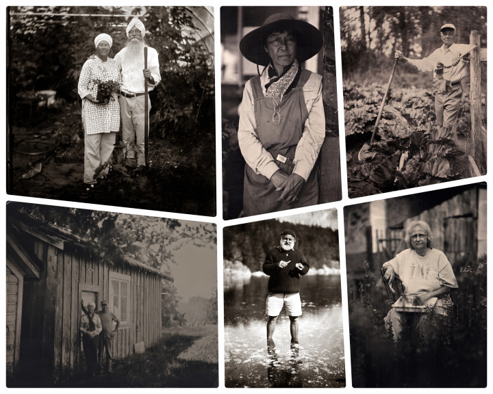 Island Farmers Alliance Project Of Land and Sea uses 100 year old camera to capture farmers of vancouver island bc