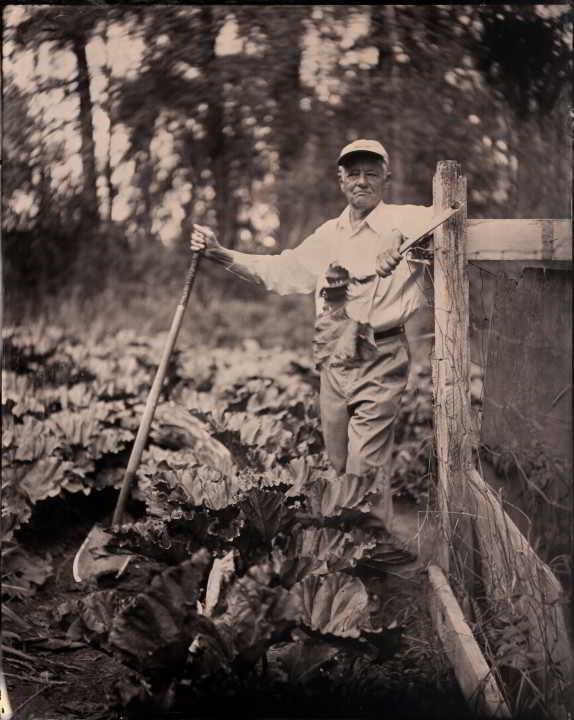 B&W Picture of Farmer Nick from Island Farmers Alliance Of Land & Sea Photo Series