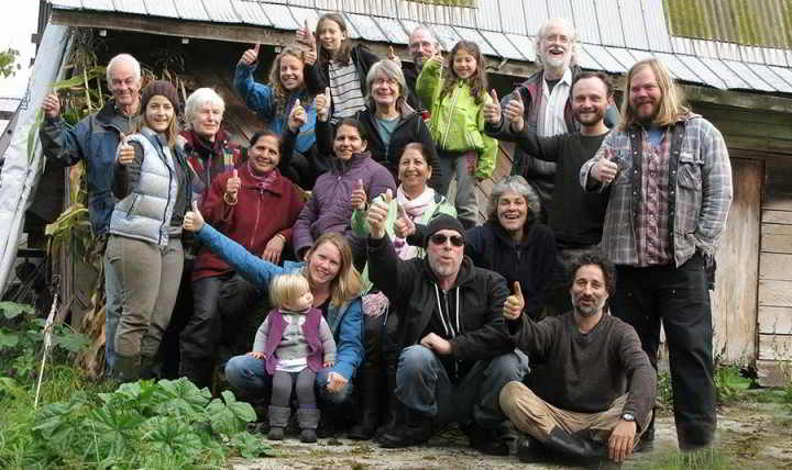 The lively farmer crew at Glorious Organics Co-operative