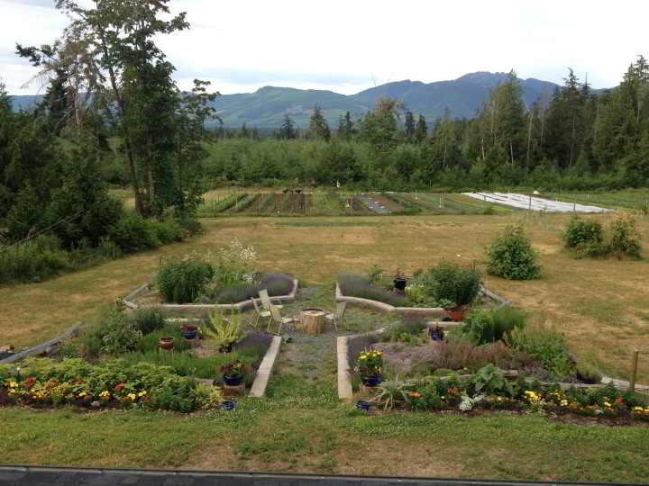 Nourish Organic Farm Workers needed to enjoy this qualicum mountain view