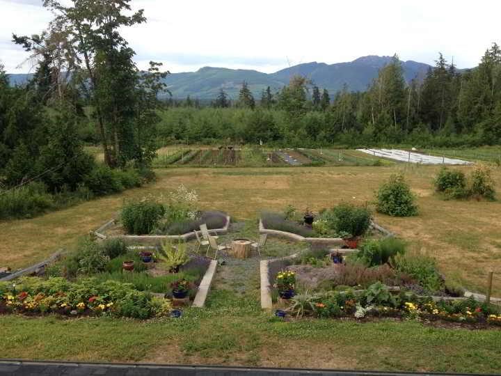 Nourish Organic Farm Workers needed to enjoy this qualicum mountain view