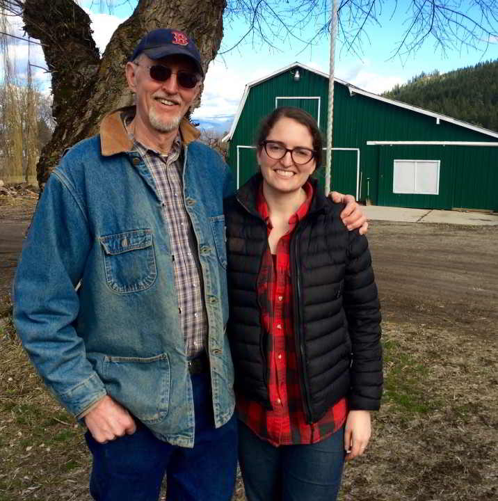 Business Mentor Robert Hettler and New Farmer Emily Jubenville standing together on Enderberry Farm