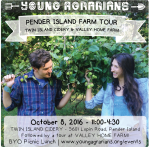 Oct 8: Pender Island, BC – Pender Island Farm Tour – Twin Island Cidery & Valley Home Farm