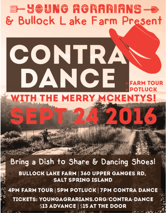 Bullock Lake Farm Contra Dance - Poster