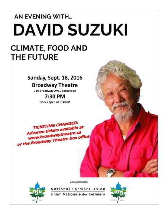 DAVID SUZUKI Poster NEW 1