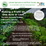 Dec 1: Lillooet, BC – Farm Workshop – Making a Profit on One Acre or Less