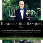 December 11: VANCOUVER, BC – Hundred-Mile Banquet