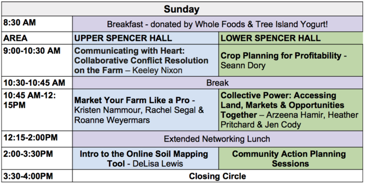 YA-VI Mixer Schedule - Sunday