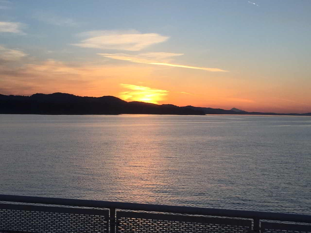Sunset off Mayne Island