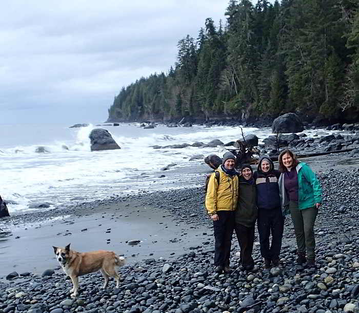 A group shot of the mentors and mentees of Sweet Digz Farm on Mystic Beach BC