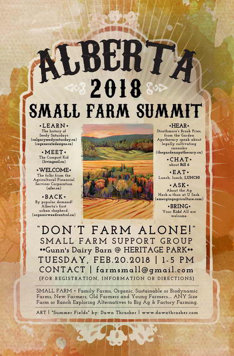 Poster for the Alberta Small Farm Summit