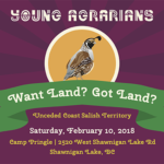 FEB 10: SHAWNIGAN LAKE, BC – Vancouver Island Land Linking