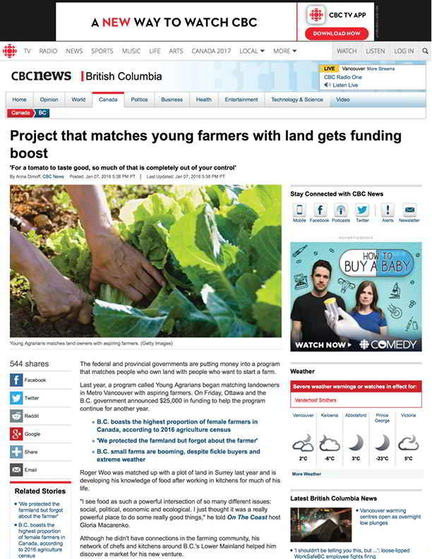 Project that matches young farmers with land gets funding boost - British Columbia - CBC News (2018-02-11 22-08-55)