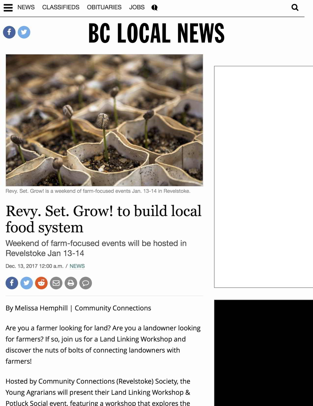 Revy. Set. Grow! to build local food system - BC Local News (2018-01-08 12-54-08)