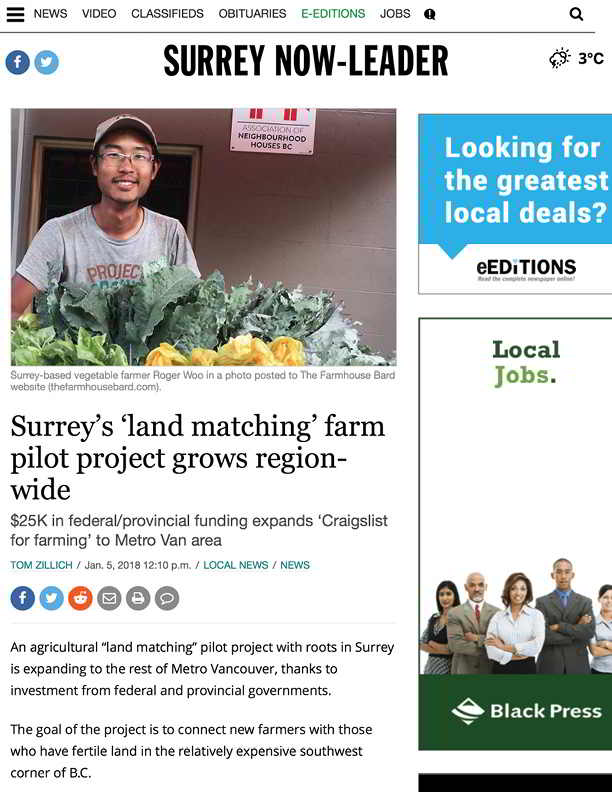 Surreys land matching farm pilot project grows region-wide - Surrey Now-Leader (2018-01-05 19-20-28)