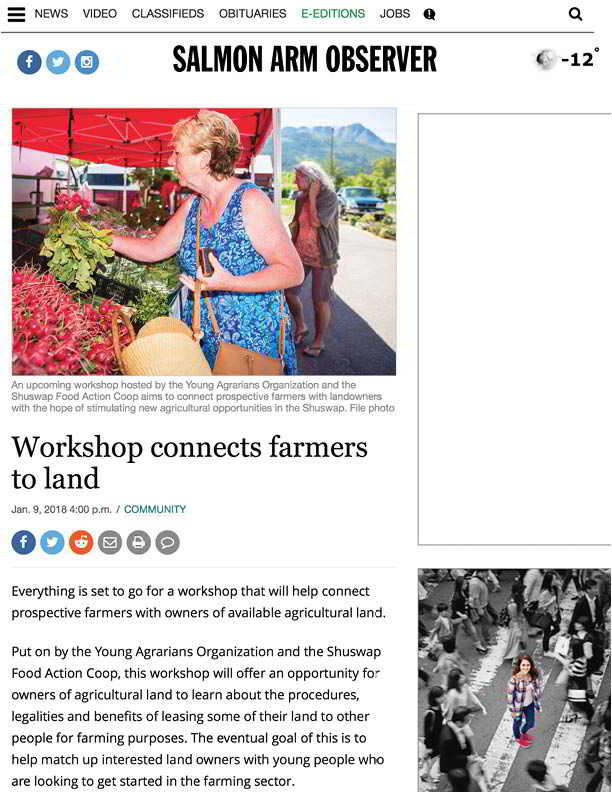 Workshop connects farmers to land - Salmon Arm Observer (2018-02-11 22-19-21)