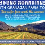 South Okanagan Farm Tours, Summer 2018