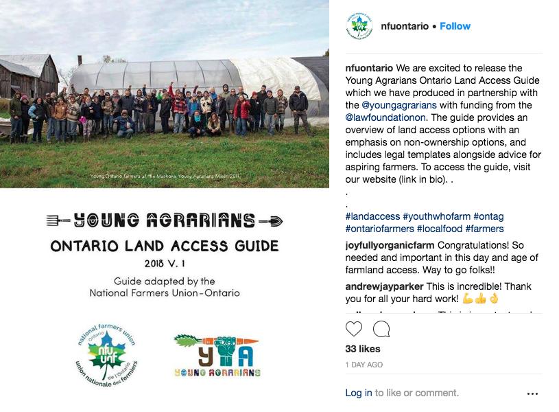 NFU-O Land Access Guide