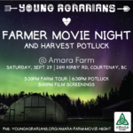 SEPT 29: COURTENAY, BC – Amara Farm Movie Night & Harvest Potluck
