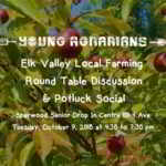 OCT 9: SPARWOOD, BC – Elk Valley Round Table Farming Discussion & Potluck Social