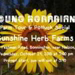 Oct 24: Terraced Mountain Farming – Farm Tour and Potluck Social – Bonnington, BC
