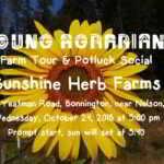 Oct 24: Terraced Mountain Farming – Farm Tour and Potluck Social – Bonnington, BC
