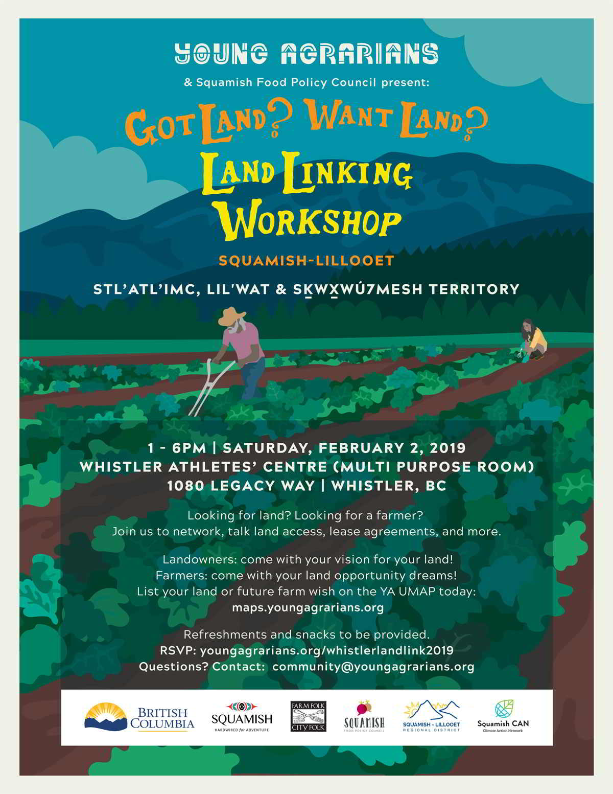 Young Agrarians Whistler Land Link 2019
