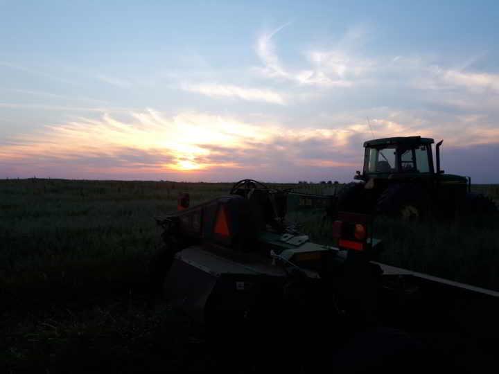 Redtail Farm: Late night field work