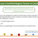 Are you a certified organic farmer in Canada? Tell us about it!