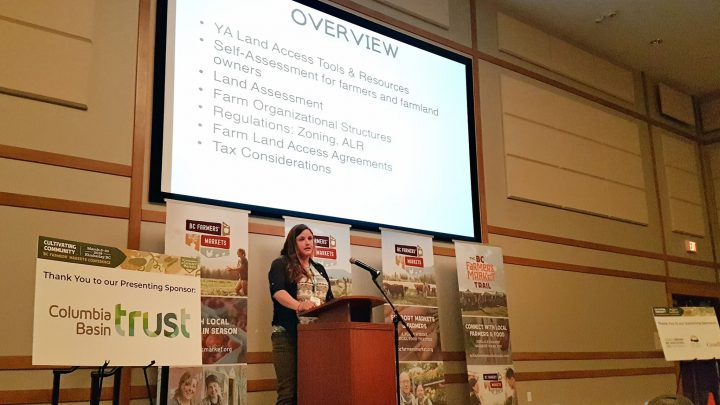Hailey Troock talks land access @ BCAFM Conference