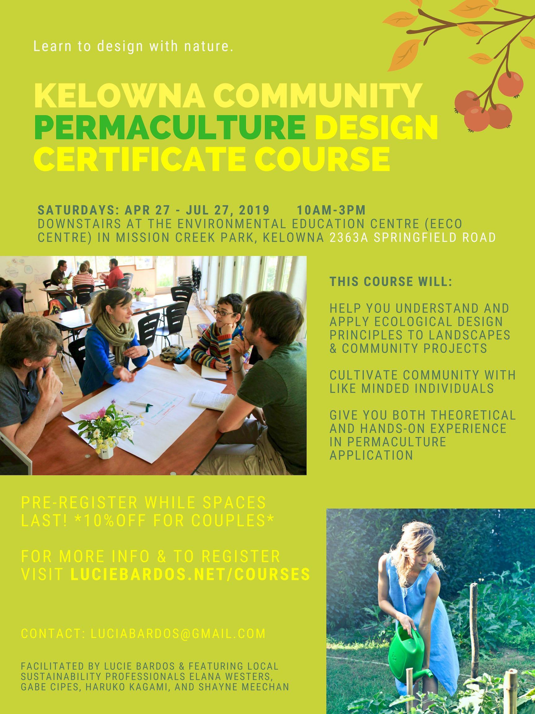 kelowna community permaculture design certificate course