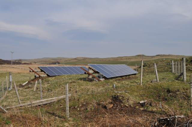 rural routes to climate solutions, solar panels on field
