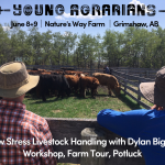 POSTPONED June 8+9 2019: Grimshaw, AB – Low Stress Livestock Handling Workshop with Dylan Biggs
