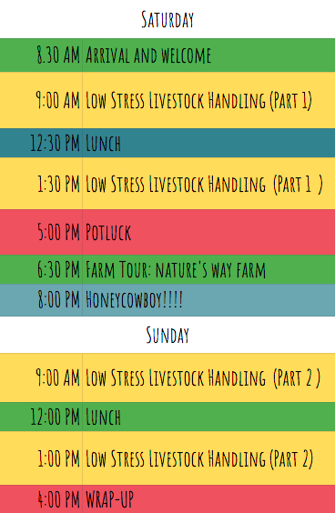low stress livestock handling workshop schedule