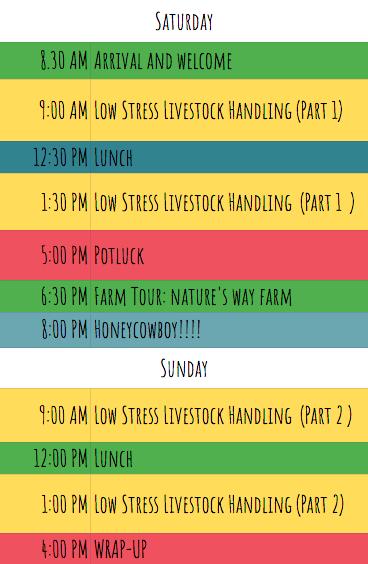 low stress livestock handling workshop schedule