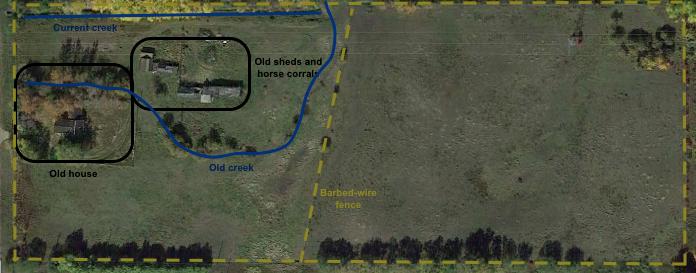 Aerial photo - Annotated- Patricia Waiseman
