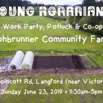 JUNE 23, 2019: LANGFORD, BC – Farm Tour, Work Party, Potluck & Co-op Discussion at Lohbrunner Community Farm